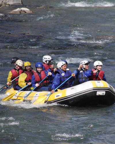 Rafting en Espagne, groupe de rafting